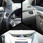 [KYOUNG DONG] Hyundai Avante MD - Interior Black Color Plating Chrome Molding Set (D-405)