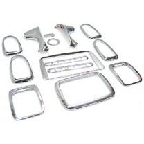 [KYUNG DONG] Hyundai New EF Sonata (2003, w/o airbag) - Interior Chrome Molding Set (K-287)