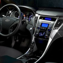 [AUTO CLOVER] Hyundai YF Sonata - Interior Chrome Molding Kit Luxury (C363)