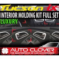 [AUTO CLOVER] Hyundai Tucson iX - Interior Chrome Molding Kit Luxury (C364)