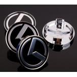 [7X] HYUNAI / KIA - K-Logo Wheel Cap Emblem Set