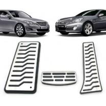 [MEDIGN] Hyundai Genesis / Coupe - Metal Hairline Sports Pedal Cover Set - 3/4 PCS