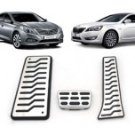 [MEDIGN] Hyundai Grandeur HG/KIA K7 - Metal Hairline Sports Pedal Cover Set - 3 PCS