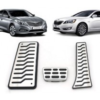 [MEDIGN] Hyundai Grandeur HG/KIA K7 - Metal Hairline Sports Pedal Cover Set - 3 PCS