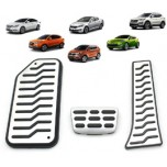 [MEDIGN] Hyundai Santa Fe DM - Metal Hairline Sports Pedal Cover Set - 3/4 PCS