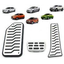 [MEDIGN] Hyundai Tucson iX - Metal Hairline Sports Pedal Cover Set - 3/4 PCS