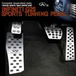 [GREENTECH] INFINITI G25 - Aluminum Sports Pedal Set (A/T)