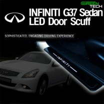 [GREENTECH] INFINITI G37 Sedan - LED Door Sill Scuff Plates Set