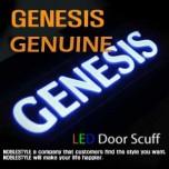 [NOBLE STYLE] Hyundai Genesis - LED Door Sill Scuff Plates Set (Rear)