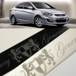 [ARTX] Hyundai New Accent - Luxury Generation Door Scuff Plates