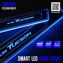 [DXSOAUTO] Hyundai All New Tucson - Smart LED Door Sill Scuff Plates Set