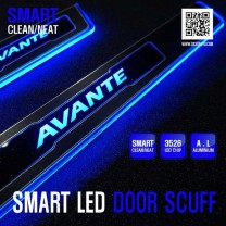 [DXSOAUTO] Hyundai The New Avante MD - Smart LED Door Sill Scuff Plates Set