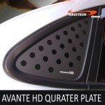 [RACETECH] Hyundai Avante HD - 3D Quarter Glass Plate Set