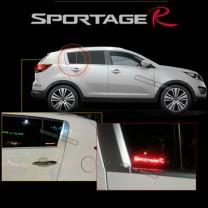 [COX] KIA Sportage R - LED Glass C Pillar Plate Set