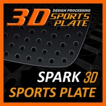 [DXSOAUTO] Chevrolet Spark - 3D Sports Plate Circle Type Set