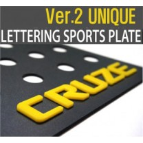 [DXSOAUTO] Chevrolet Cruze - Lettering Sports Plate Ver.2 Unique (C Pillar)