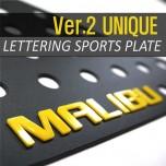 [DXSOAUTO] Chevrolet Malibu - Lettering Sports Plate Ver.2 (C Pillar)