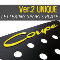 [DXSOAUTO] Hyundai Genesis Coupe - Lettering Sports Plate Set Ver.2 (C Pillar)