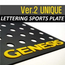 [DXSOAUTO] Hyundai Genesis - Lettering Sports Plate Set Ver.2 (C Pillar)