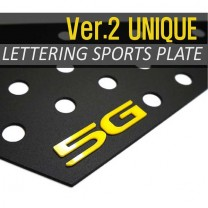 [DXSOAUTO] Hyundai Grandeur HG - Lettering Sports Plate Set Ver.2 (C Pillar)