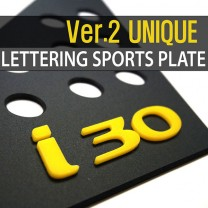 [DXSOAUTO] Hyundai New i30 - Lettering Sports Plate Ver.2 (C Pillar)