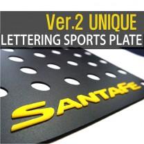 [DXSOAUTO] Hyundai Santa Fe DM - Lettering Sports Plate (C Pillar)