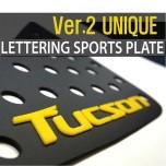 [DXSOAUTO] Hyundai Tucson iX - Lettering Sports Plate Ver.2 (C Pillar)