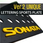 [DXSOAUTO] Hyundai NF Sonata - Lettering Sports C Pillar Plates Set Ver.2