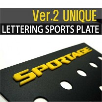 [DXSOAUTO] KIA Sportage R - Lettering Sports Plate Ver.2 (C Pillar)