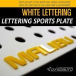 [DXSOAUTO] Chevrolet Malibu - Lettering Sports Plate Ver.3 WHITE