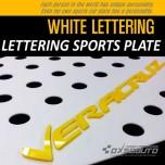 [DXSOAUTO] Hyundai Veracruz - Lettering Sports Plate Ver.3 WHITE