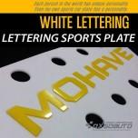 [DXSOAUTO] KIA Mohave - Lettering Sports Plate Ver.3 WHITE