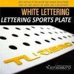 [DXSOAUTO] SsangYong Korando Turismo - Lettering Sports Plate Ver.3 WHITE