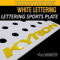[DXSOAUTO] SsangYong Kyron - Lettering Sports Plate Ver.3 WHITE