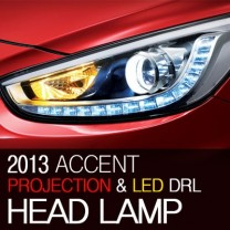 [MOBIS] Hyundai New Accent - Super Deluxe LED DRL Projector Headlights