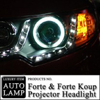 [AUTO LAMP] KIA Forte / Koup - CCFL & LED Projector Head Lights Set