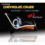 [AUTO LAMP] Chevrolet Cruze - 2014 Ver.A8 Style CCFL Angel Eyes Headlights Set