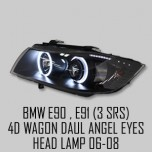 [AUTO LAMP] BMW E90 / E91 - LED Dual Angel Eyes Projector Headlights