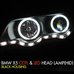 [AUTO LAMP] BMW X5 (E53) - CCFL & LED Headlights Set (HID)