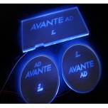 [LED & CAR] Hyundai Avante AD - LED Silver Iron Cup Holder & Console Plates (DLX)