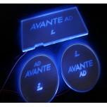 [LED & CAR] Hyundai Avante AD - LED Silver Iron Cup Holder & Console Plates (DLX)