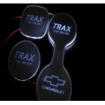 [LED & CAR] Chevrolet Trax - LED Silver Iron Cup Holder & Console Plates (DLX)