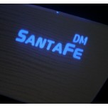 [LED & CAR] Hyundai Santa Fe DM - Silver Iron LED Inside Door Catch Plates (DLX)