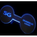 [LED & CAR] Hyundai 5G Grandeur HG - LED Silver Iron Cup Holder & Console Plates (DLX)