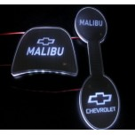 [LED & CAR] Chevrolet All New Malibu - LED Silver Iron Cup Holder & Console Plates (DLX)