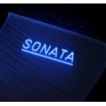 [LED & CAR] Hyunda LF Sonata - Silver Iron LED Inside Door Catch Plates (DLX)