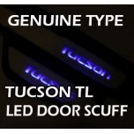 [LED & CAR] Hyundai All New Tucson - LED Door Sill Scuff Plates Set