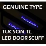[LED & CAR] Hyundai All New Tucson - LED Door Sill Scuff Plates Set