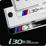 [ZERO SPORTS] Hyundai i30 - License Number Frame + Bolts Set (NP308)