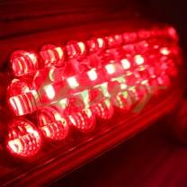 [LEDIST] KIA All New Pride Hatchback - Rear Bumper Reflector LED Chrome Black Ver.2